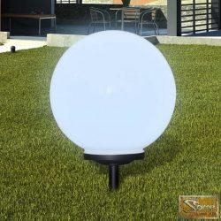 Napelemes Gömb Kültéri lámpa LED égő 40 cm 1 db Cövekkel