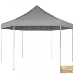 VID 3,6x3,1 m hatszög alapú összecsukható pop up party sátor szürke