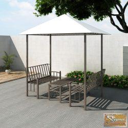Vid kerti pavilon asztallal és paddal 2,5 x 1,5 x 2,4 m