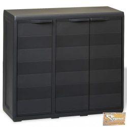 VID fekete kerti tárolószekrény 2 polccal