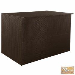 VID barna polyrattan kültéri tárolóláda 150 x 100 x 100 cm