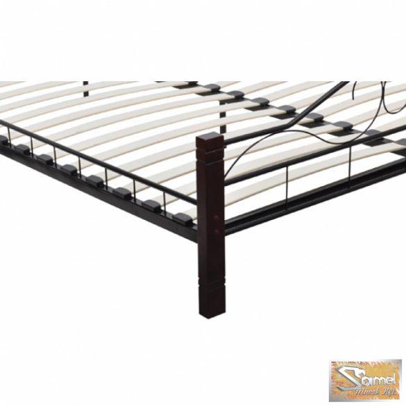 Vid ívelt fém ágykeret falábbal 180x200, fekete színben