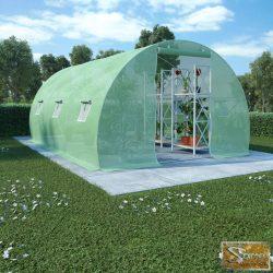 VID 13,5 m²-es acélalapzatú melegház 450 x 300 x 200 cm