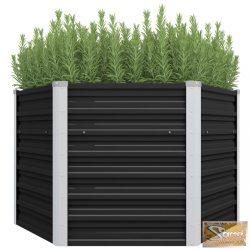 VID antracitszürke horganyzott acél kerti virágtartó 129x129x77 cm