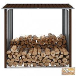 VID barna horganyzott acél kerti tűzifatároló 172 x 91 x 154 cm