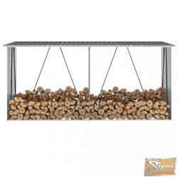 VID antracit horganyzott acél kerti tűzifatároló 330 x 84 x 152 cm