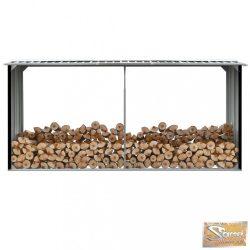 VID antracitszürke horganyzott acél tűzifatároló 330 x 92 x 153 cm