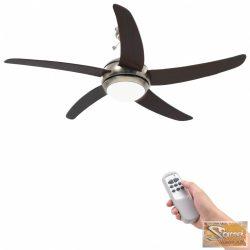 VID díszes mennyezeti ventilátor lámpával 128 cm barna