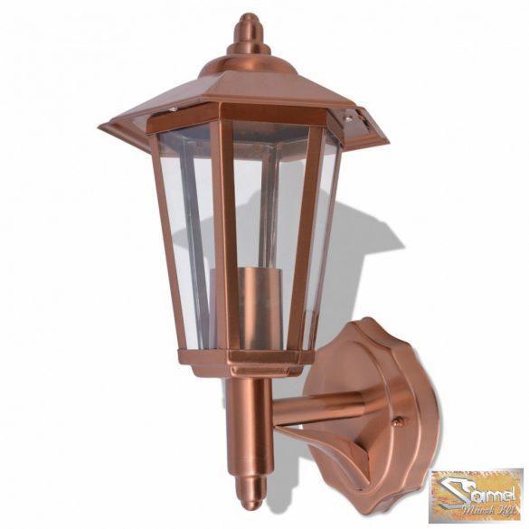 Vid rozsdamentes kültéri lámpa réz színű
