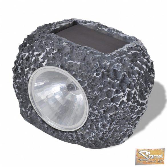 Vid kültéri napelemes led reflektor kő alakú 12 db