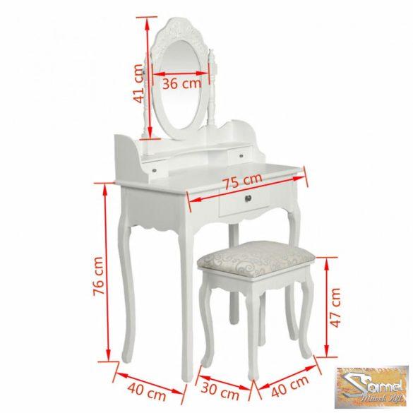 Vid fésülködőasztal, sminkasztal székkel