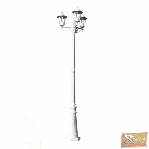 Vid kültéri lámpa 3 karú 215 cm fehér