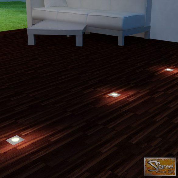 Vid talajba építhető négyzet alakú kültéri lámpa, 3 db