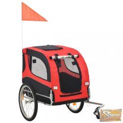 VID piros és fekete kutyaszállító kerékpár-utánfutó